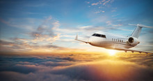 Luxury Private Jetliner Flying...