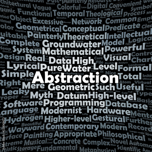 Abstraction word cloud