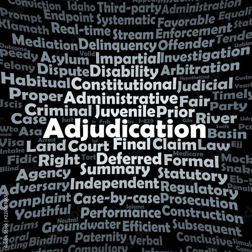 Adjudication word cloud Canvas Print