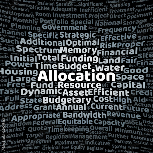 Fotografia  Allocation word cloud
