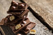 Chocolate Bars With Hazelnuts