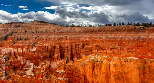 Keuken foto achterwand Rood paars Panoramic view of Bryce canyon