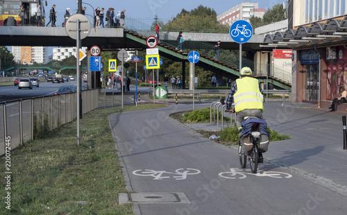 Fotografie, Obraz trasa rowerowa