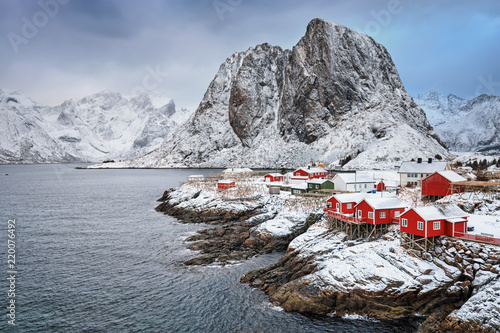 Foto auf Gartenposter Skandinavien Hamnoy fishing village on Lofoten Islands, Norway