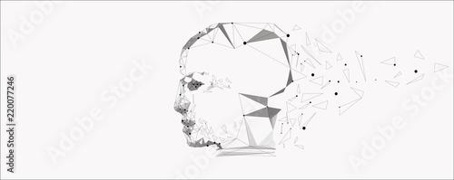 Obraz Vector symbol of human head. - fototapety do salonu