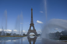Eiffel Tower With Fountains, Paris, France, 08.08.2018