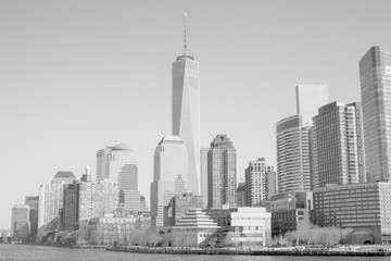 Skyline of Wall street district