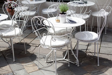 Outdoor Terrace Of Cafe With B...