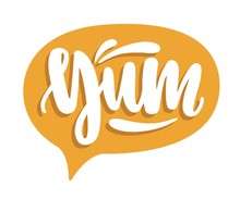 Yum Lettering Written With Cal...