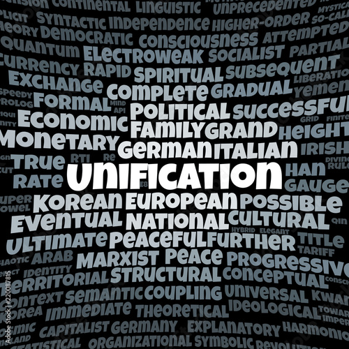 Fotografie, Obraz  Unification word cloud