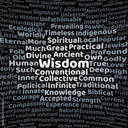 Fotografía  Wisdom word cloud
