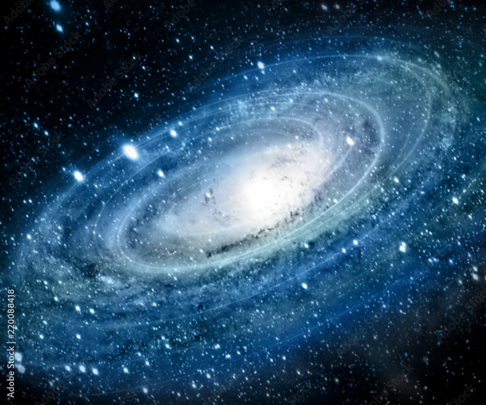 Fototapety, obrazy: Nebula and galaxies in space. Elements of this image furnished by NASA.