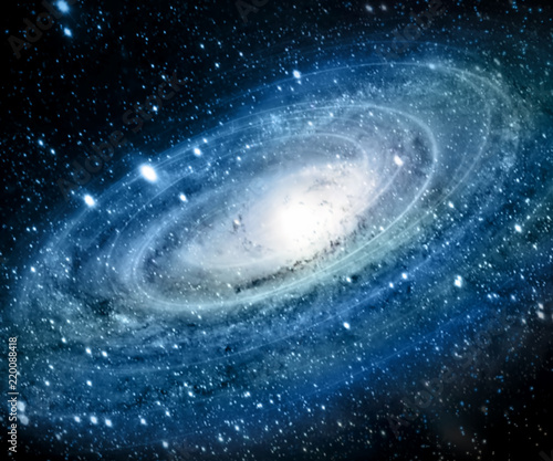 Staande foto Nasa Nebula and galaxies in space. Elements of this image furnished by NASA.