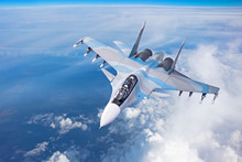 Combat Fighter Jet On A Milita...