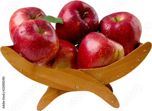 Apples in a fruit holder