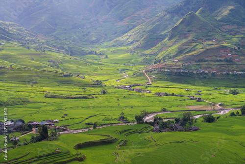 Foto op Canvas Pistache Ethnic village in Vietnam
