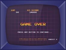 Retro Arcade Game Machine. Scr...