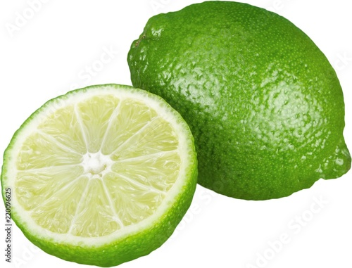 Whole and Half Lime - Isolated