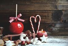 Weihnachtskarte - Liebesapfel Mit Gebäck