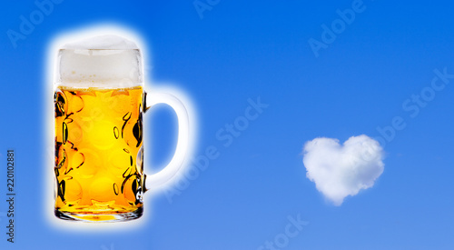 Tuinposter Bier / Cider Bier mit Herz