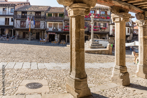 Streets and buildings of the town of La Alberca in Salamanca, Spain