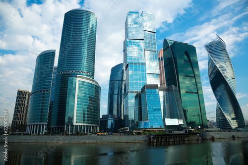 Deurstickers Stad gebouw moscow city complex
