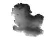 Leinwandbild Motiv Single black cloud isolated on white background