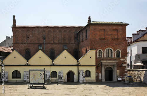 Fototapeta Renaissance old Synagogue in Kazimierz. Krakow. Poland obraz