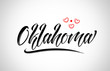 oklahoma city design typography with red heart icon logo