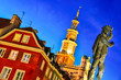 canvas print picture - Architecture of Old Market in Poznan, Poland