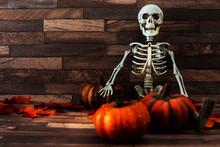 Halloween Concept With A Pumpk...