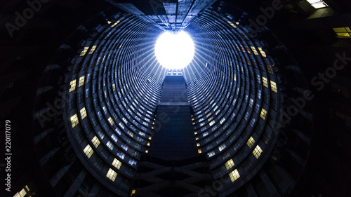 A inside of tall famous tower, Johannesburg, South Africa