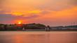 Möhnesee Sonnenuntergang an der Staumauer