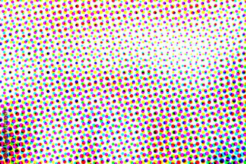 Abstract halftone pop art b...