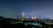 skyline timelapse during the night in jiu wu peak taipei Xiangshan taiwan