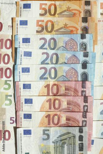 Fotografie, Obraz  Euro-Banknoten