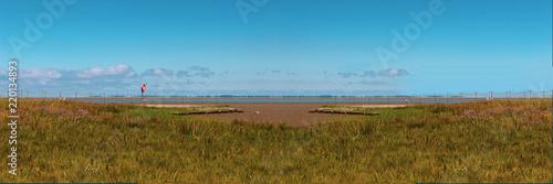 Spoed Foto op Canvas Noordzee Panorama-Blick auf den Nationalpark Wattenmeer, gesehen in Friesland, Niedersachsen an einem Sommertag