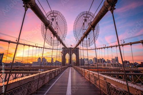 Keuken foto achterwand Amerikaanse Plekken Brooklyn Bridge in New York City, USA