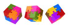 Colorful Puzzle Cubes
