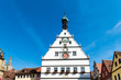 Low Angle View of Building against Blue Sky in Rothenburg ob der Tauber, Germany