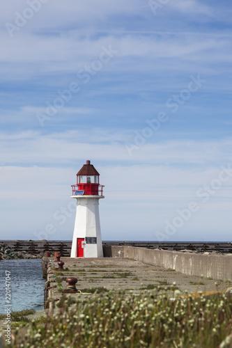 Spoed Foto op Canvas Vuurtoren Grand Bank Wharf Lighthouse