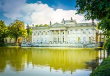 Palace Of Last Polish King Stanislaw August Poniatowski In Lazenki, Warsaw, Poland, Retro Toned