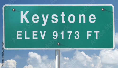Fényképezés Keystone, Colorado Elevation City Limit Sign