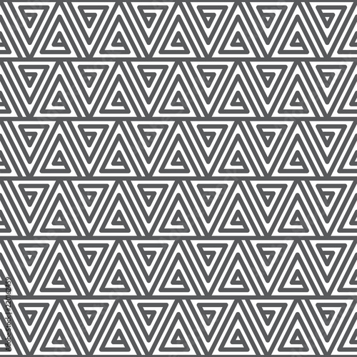 Fotografia  Seamless abstract geometric pattern. Black and white texture