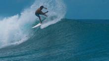CLOSE UP: Pro Surfer Carves A ...