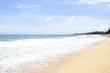 The beautiful sand at long beach in Phuket, Thailand.