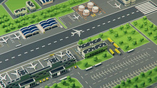 3d Airport With Planes