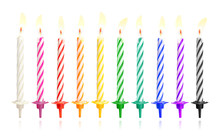Burning Birthday Candles Isola...