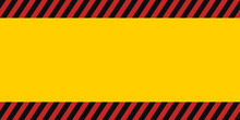 Horizontal Warning Banner Fram...