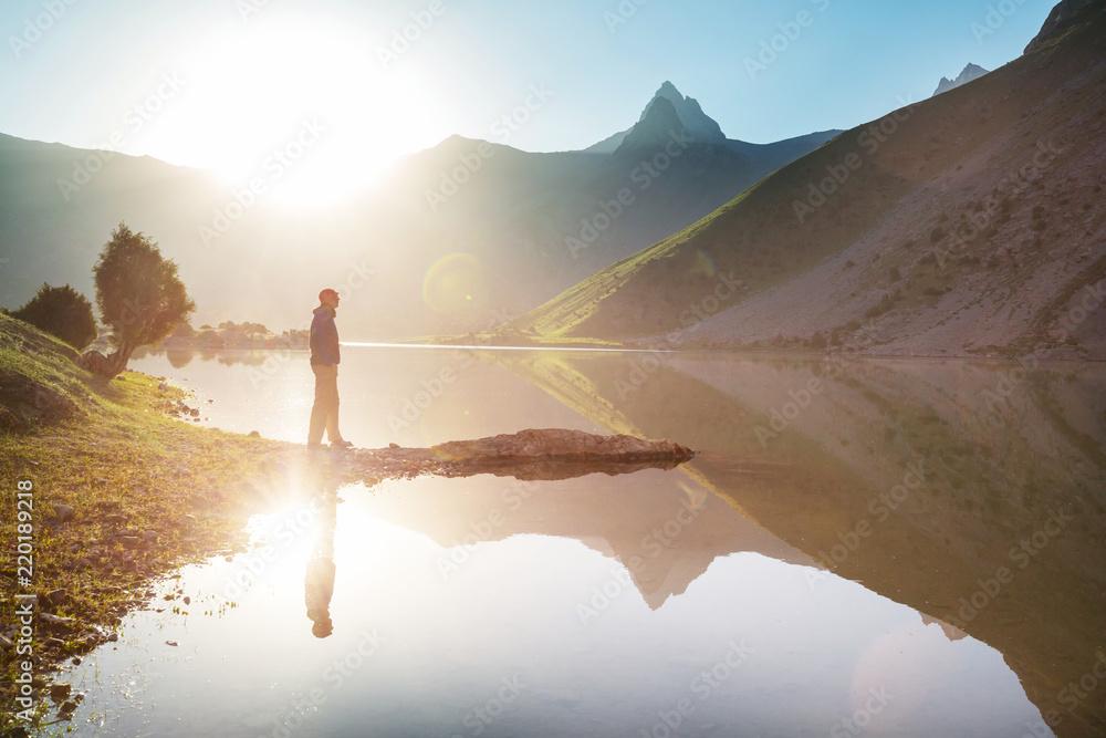 Fototapety, obrazy: Hike in Fann mountains